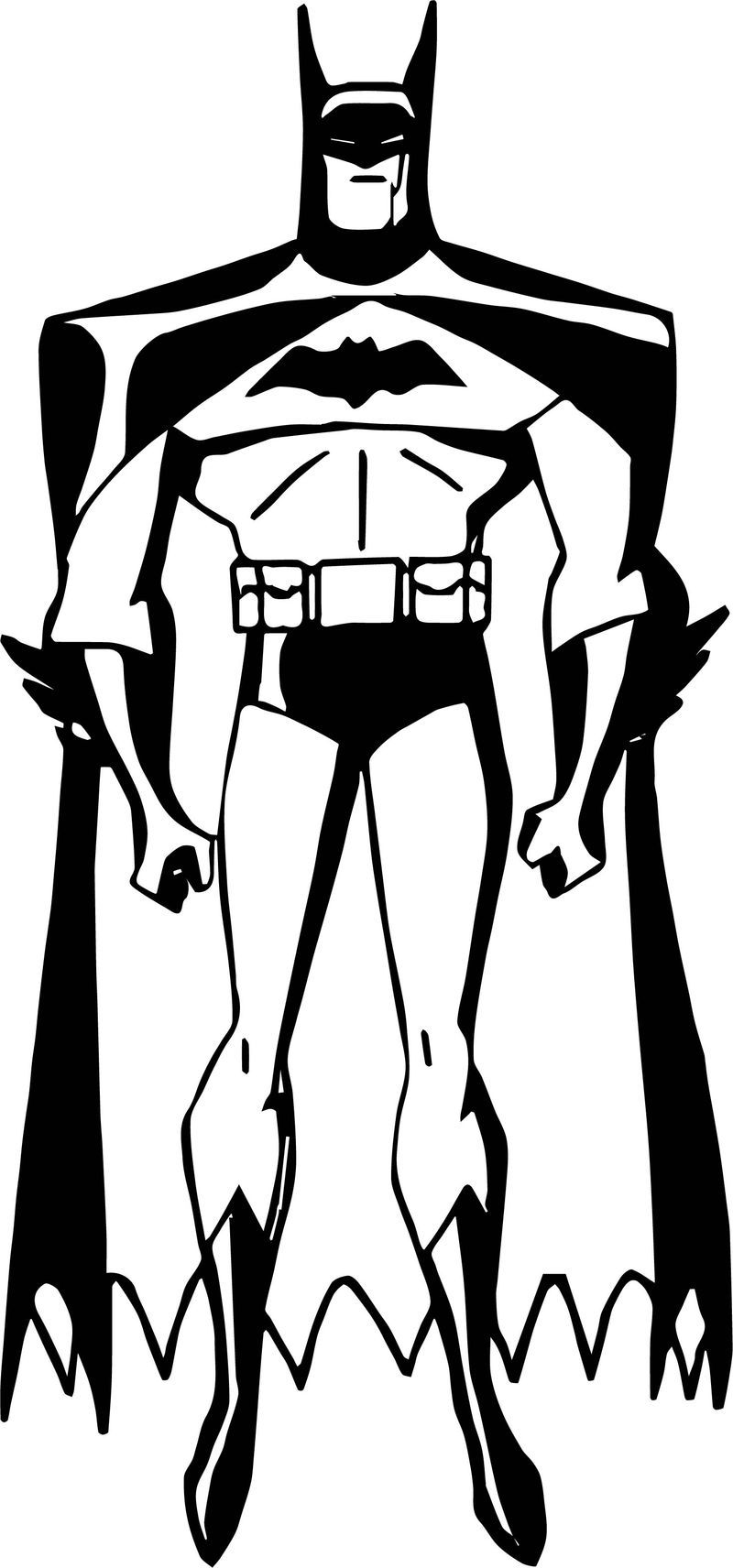 Batman Little Pose Coloring Page See the category to find ...