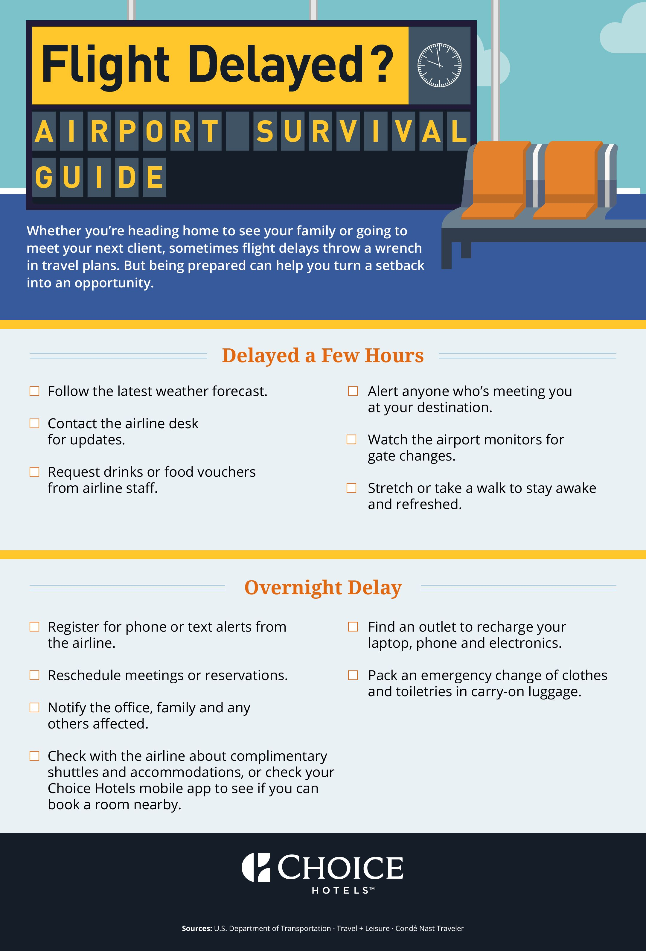 Flight Delayed Airport Survival Guide Travel Tips Business Air Choice Hotelsair
