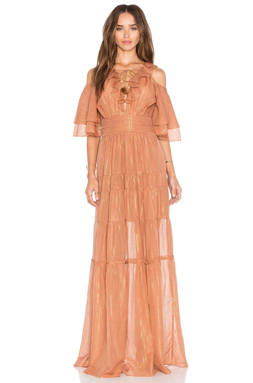 Rachel Zoe Danielle Maxi Dress In Terracotta From Revolve Com Dresses Maxi Dress Red Dress Maxi [ 1450 x 960 Pixel ]