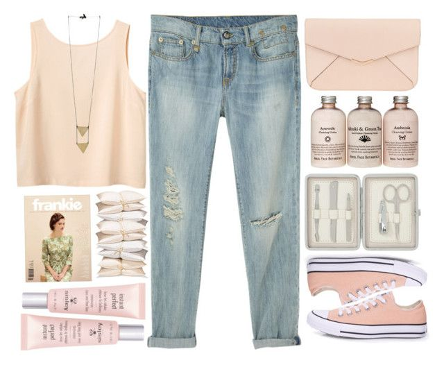 """Mi color favorito!"" by raquel-t-k-m ❤ liked on Polyvore featuring Monki, R13, Converse, John Lewis, Fendi and Sisley Paris"