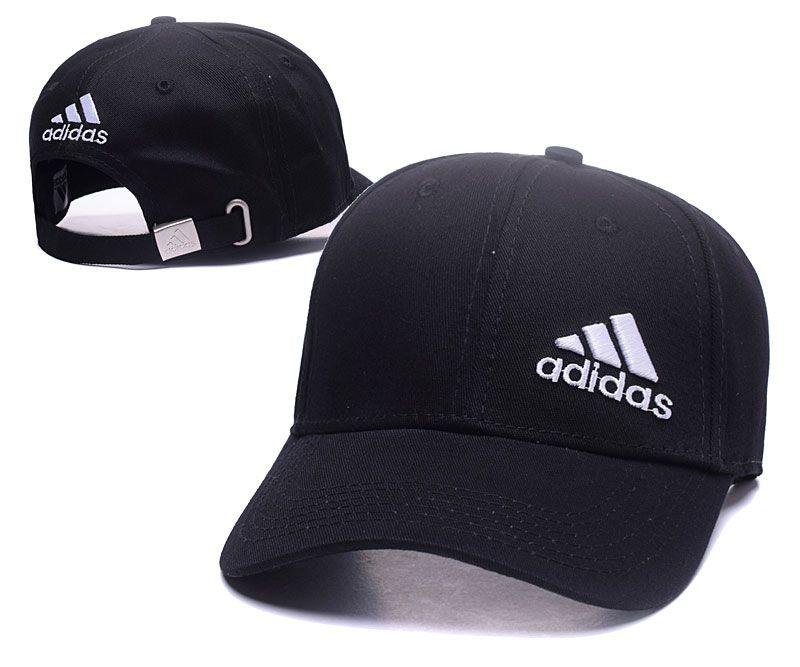 Men's / Women's Adidas Side Performance 3-Straps Logo Dad Hat - White / Black