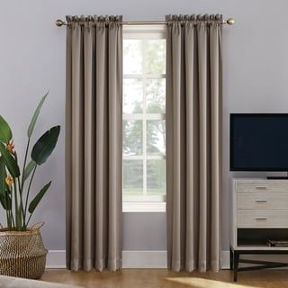 Sun Zero Home Theater 100 Blackout Rod Pocket Curtain Panel 52 X