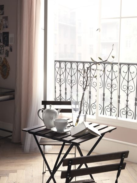 Table 2 Chairs Outdoor Black Acacia