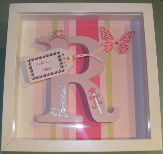 Personalised Wooden Letter Name Frame by sjpersonalisedframes | 2015 ...