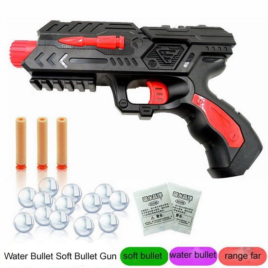 Soft Bullet Gun Paintball Gun Pistol Plastic Toys CS Game Shooting Water  Crystal Gun Nerf Air Soft Gun Airgun summer fun toy | Outdoor Fun & Sports  ...