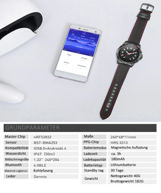 Mit wasserdichter Smartwatch fit und energiegeladen sein  #healty #fitnesstracker #smartwatch #watch...