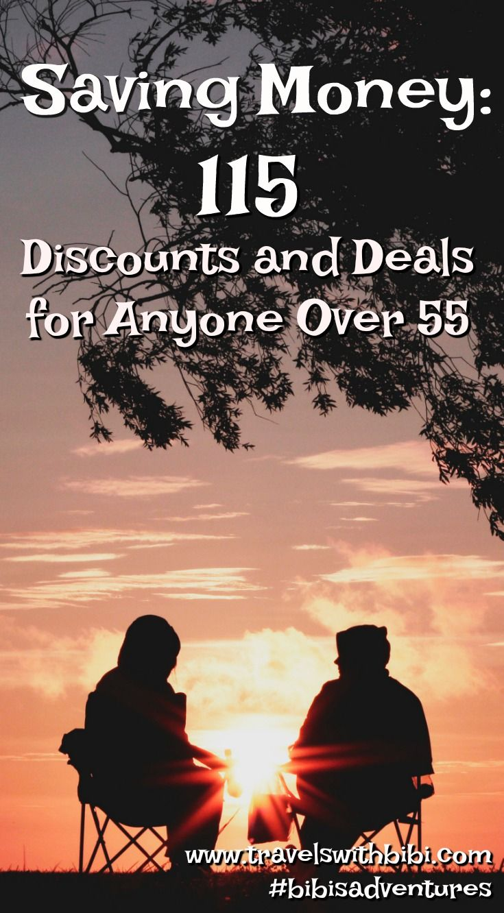 Discounts for people over 55