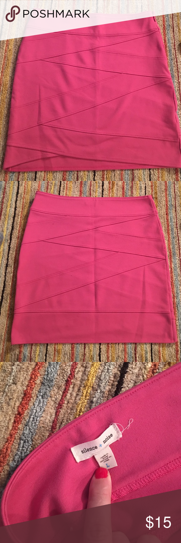 Silence and noise hot pink bandage skirt Brand is silence and noise, skirt was purchased at urban outfitters Urban Outfitters Skirts Mini