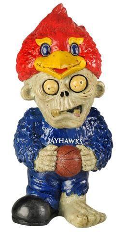 Kansas Jayhawks Zombie Figurine Thematic w/Football