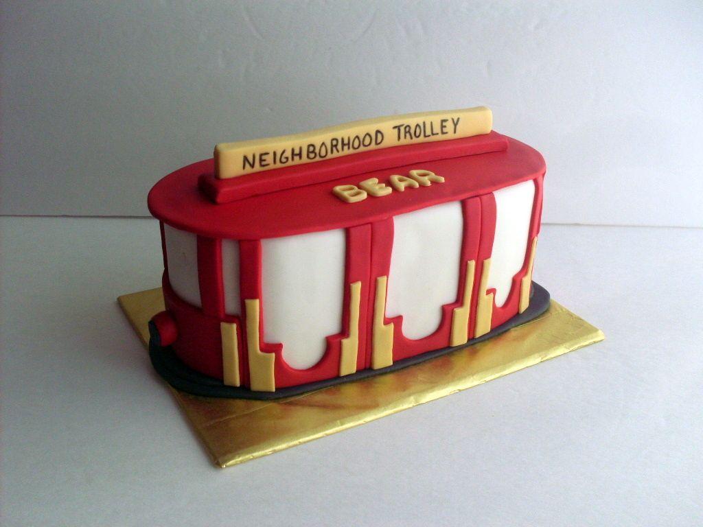 1 Daniel Tiger Trolley Cake Topper or Centerpiece Pick