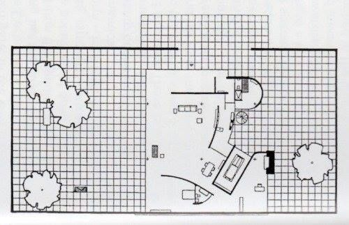 Ludwig Mies van der Rohe, Courtyard House, Project, c.1934.