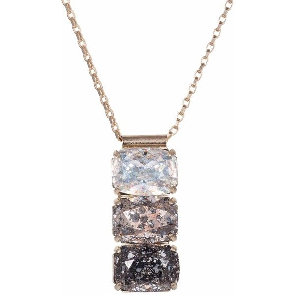 Nadia minkoff rectangular triple stone pendant ombre 64 nadia minkoff rectangular triple stone pendant ombre 64 liked on polyvore featuring aloadofball Images