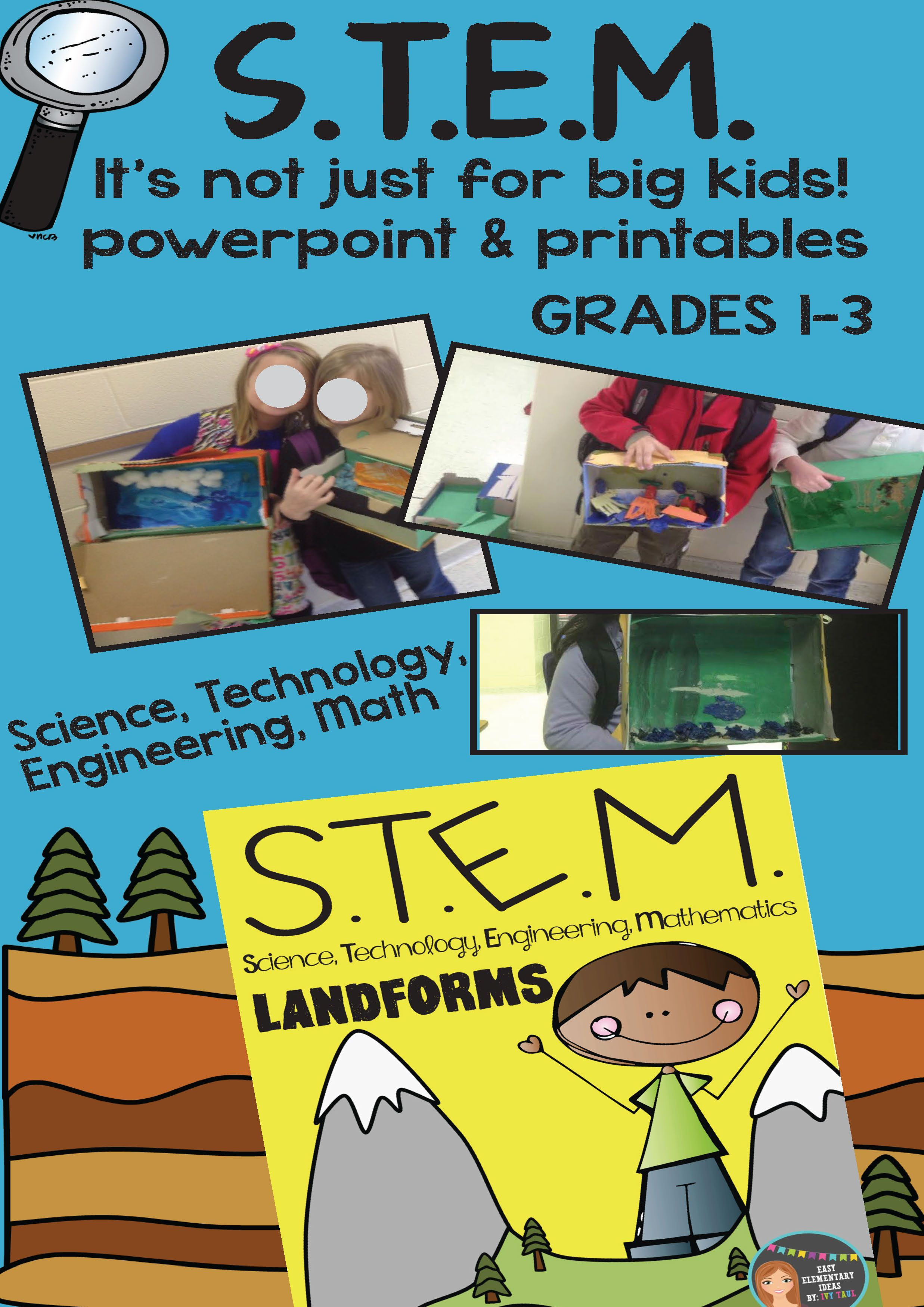 STEM Engineering - Landforms PDF & Powerpoint {Elementary