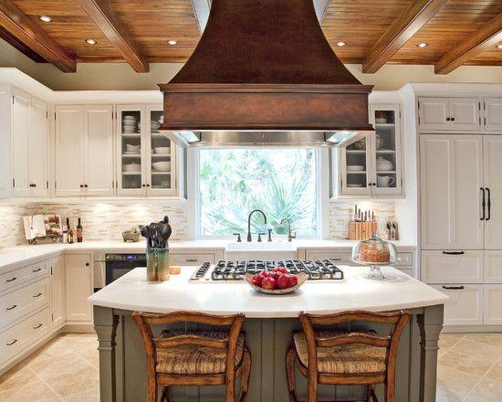 Large Island Range Hood Design Ideas Pictures Remodel And Decor Rustic Kitchen Design Kitchen Renovation Kitchen Cabinet Design