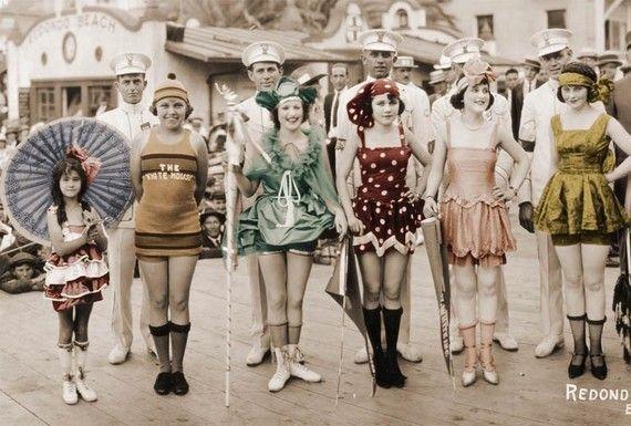 Vintage calidad Foto 3 Ft fotografía aleta traje de baño traje REdondo Beach CA