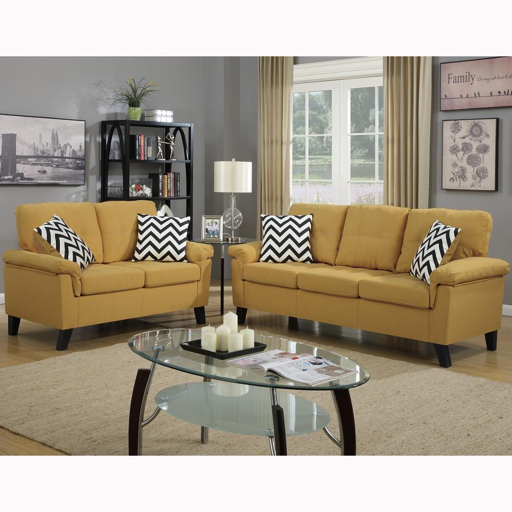 Best Venetian Worldwide Liguria 2 Piece Citrus Sofa Set Vene 400 x 300