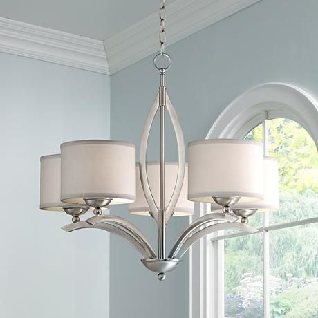 Possini Euro Ariano 27 1 4 Wide Brushed Nickel Chandelier
