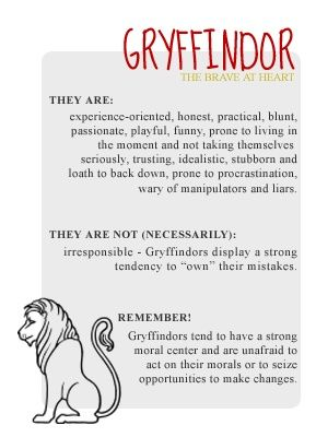 Eh I don't have anything against gryffindors, but I'm not brave, so this just isn't my kind of house.
