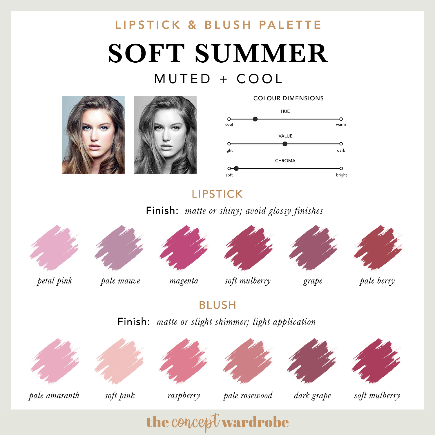 Soft Summer Lipstick Blush Palette Soft Summer Colors Soft Summer Palette Soft Summer