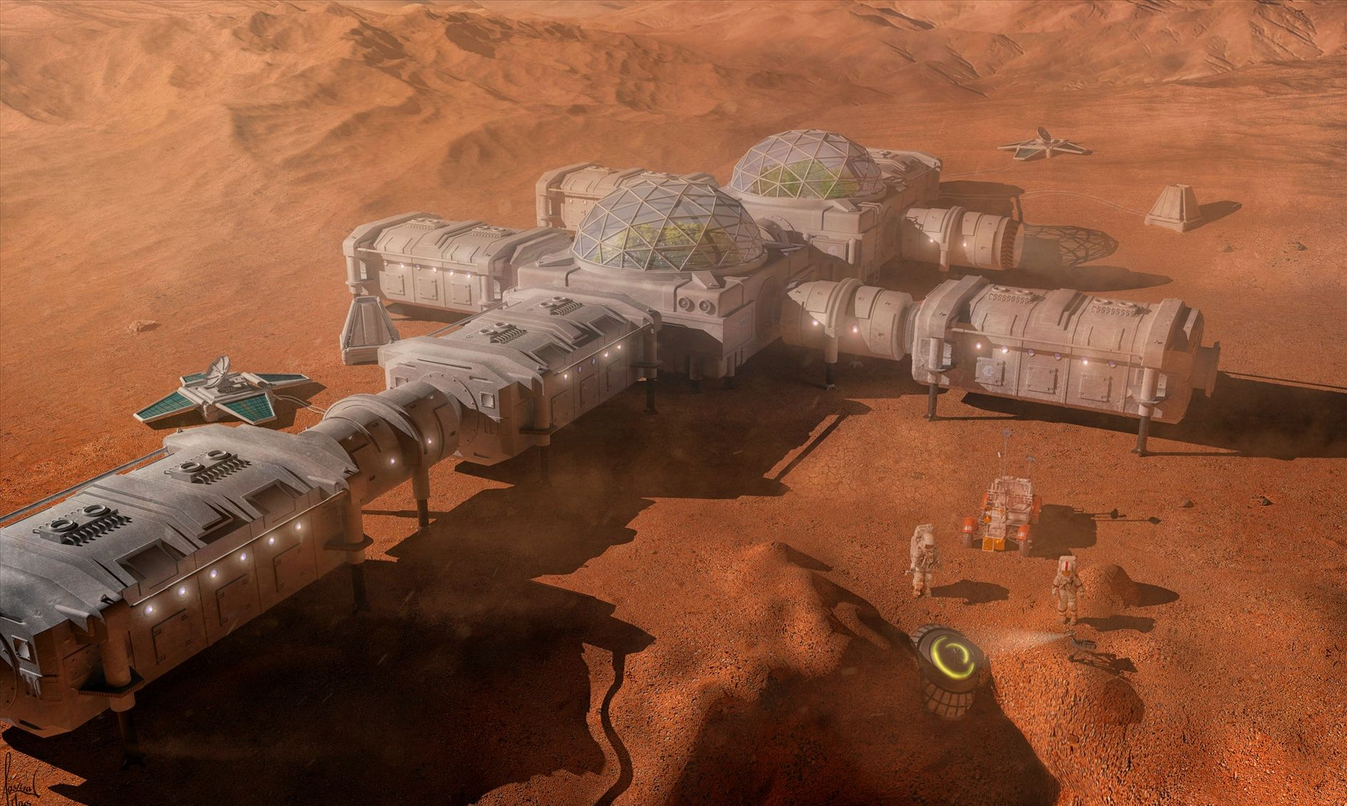 Human Mars Space Colony Concept Star Citizen Sci Fi
