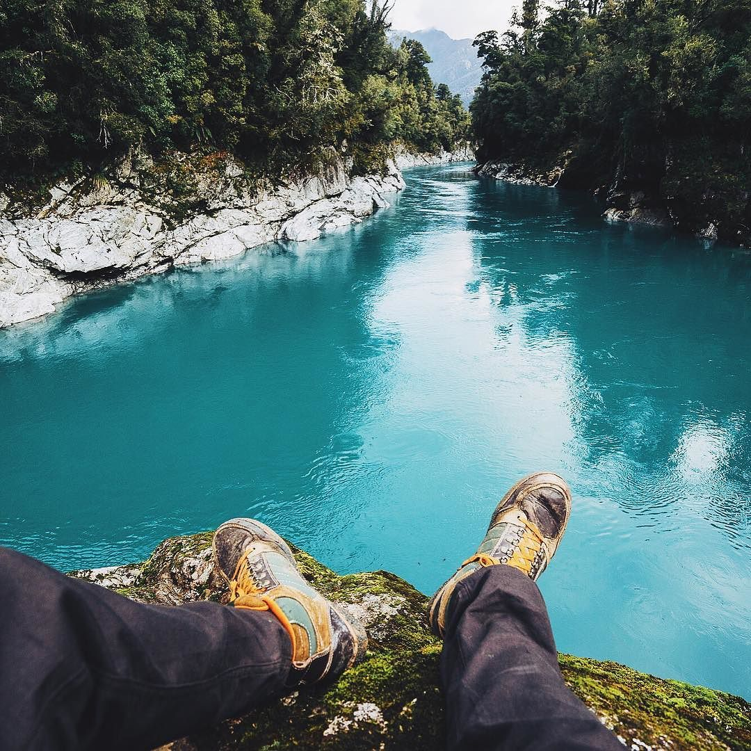Hokitika Gorge one of my favorite places in the South Island.  @forsakeco by lebackpacker