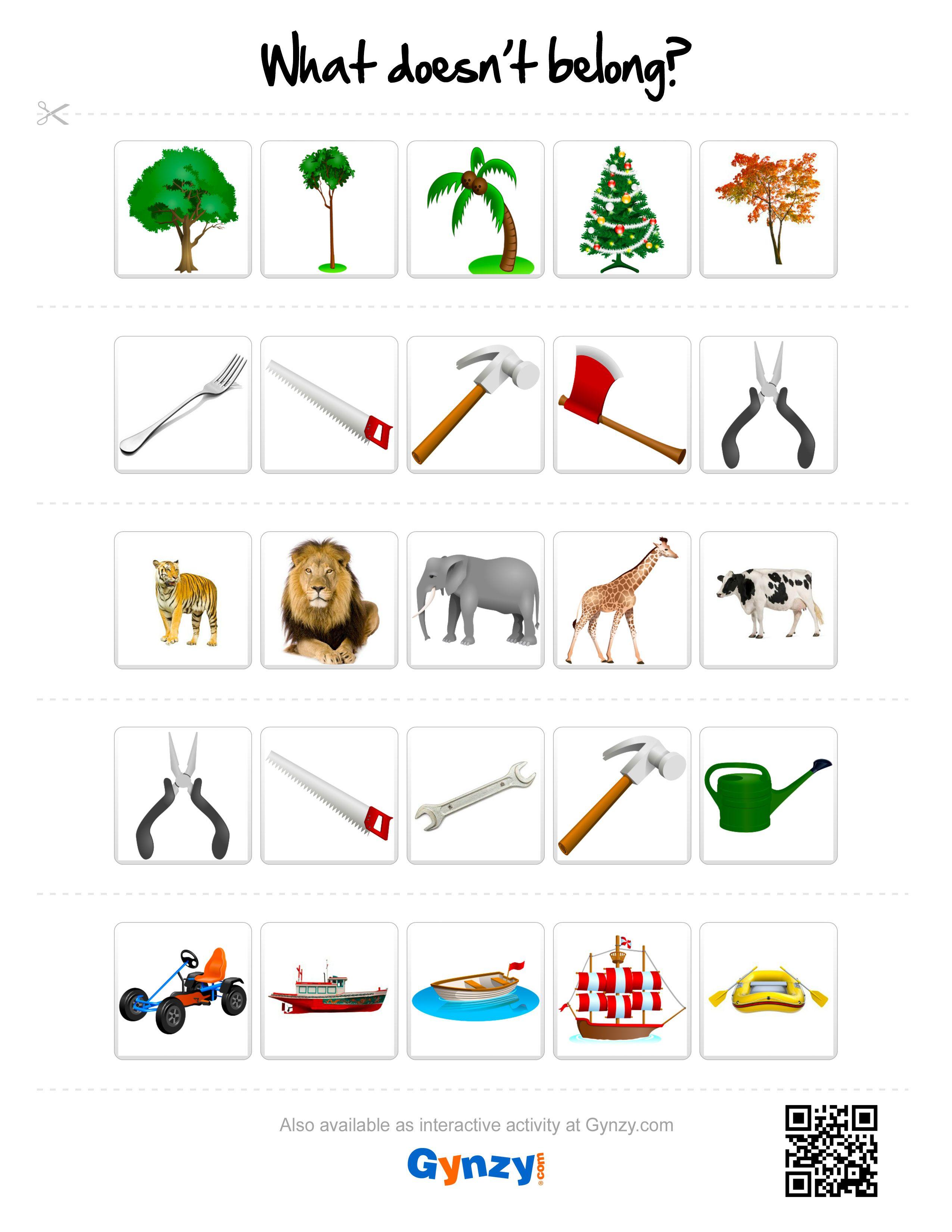 What Doesn T Belong Printables Http R Gynzy Com 216e51c8 Kindergarden Activities Reasoning Activities Kindergarten Learning [ 3300 x 2550 Pixel ]