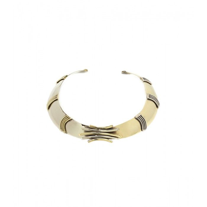 Anndra Neen Brass Choker - Shop ways to travel in fashion + win a $3,000 shopping spree!: http://shop.harpersbazaar.com/designers/emirates