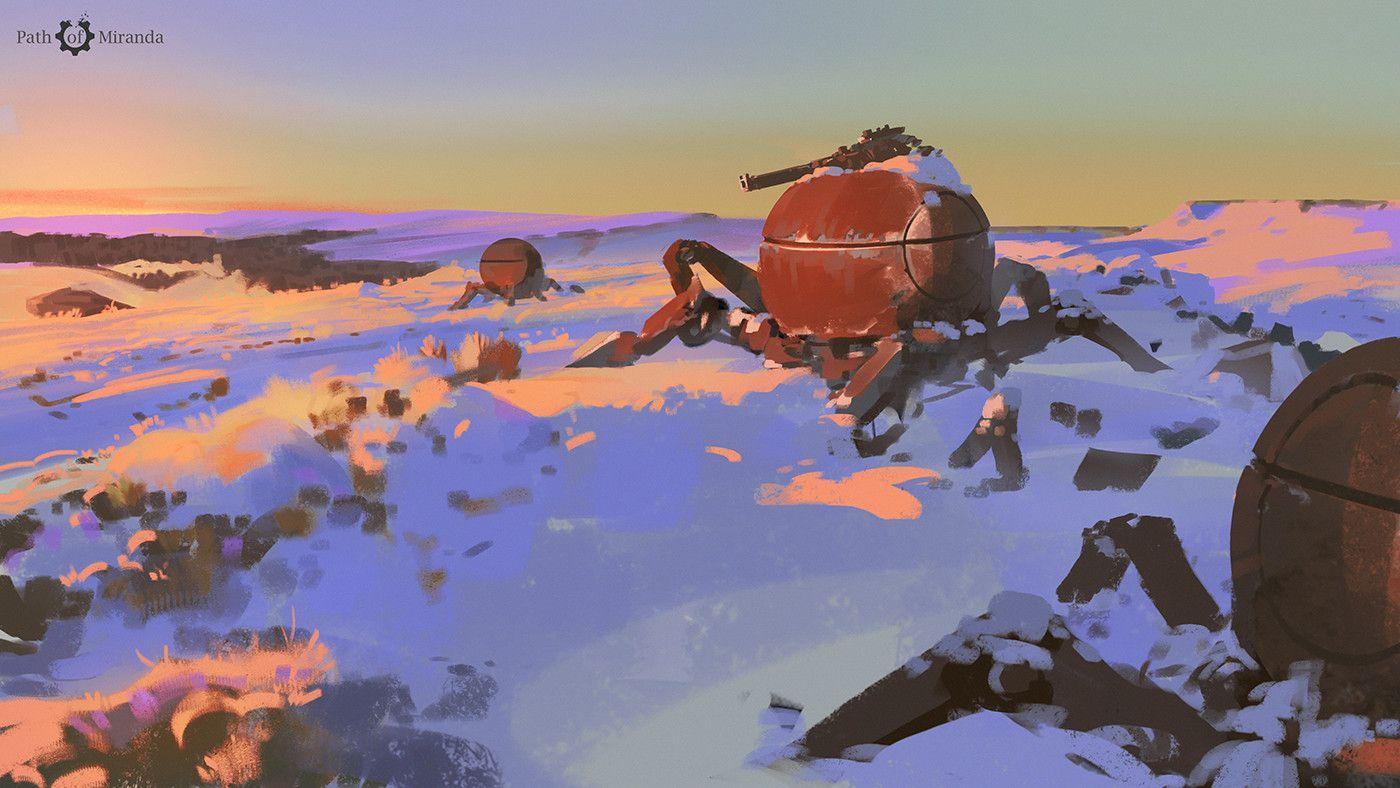 180/365 Path of Miranda_Remnants of the war, Atey Ghailan on ArtStation at https://www.artstation.com/artwork/3wmvv