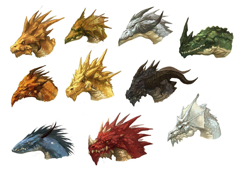 Dragon Heads By Njoo Deviantart Com On Deviantart Dessin Dragon