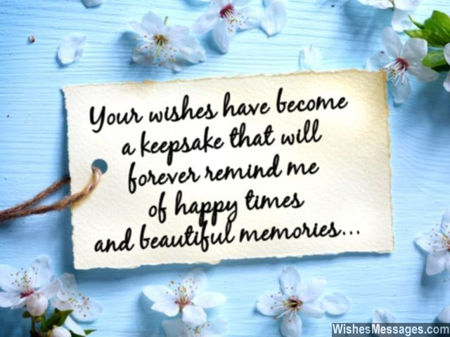 A cute quote to say thank you to someone for wishing you
