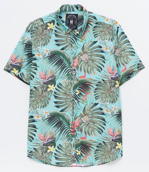 2121c7b7b4 Camisa masculina Manga curta Estampada Com botões Marca  Blue Steel Tecido   Viscose Composição