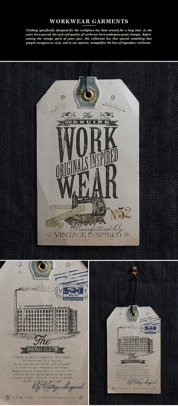 VINTAGE INSPIRED™ Hang Tags on Behance | Graphic Design ...