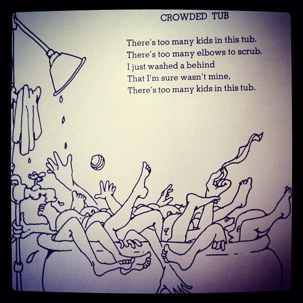 Shel Silverstein Poem Crowded Tub Luke Shel