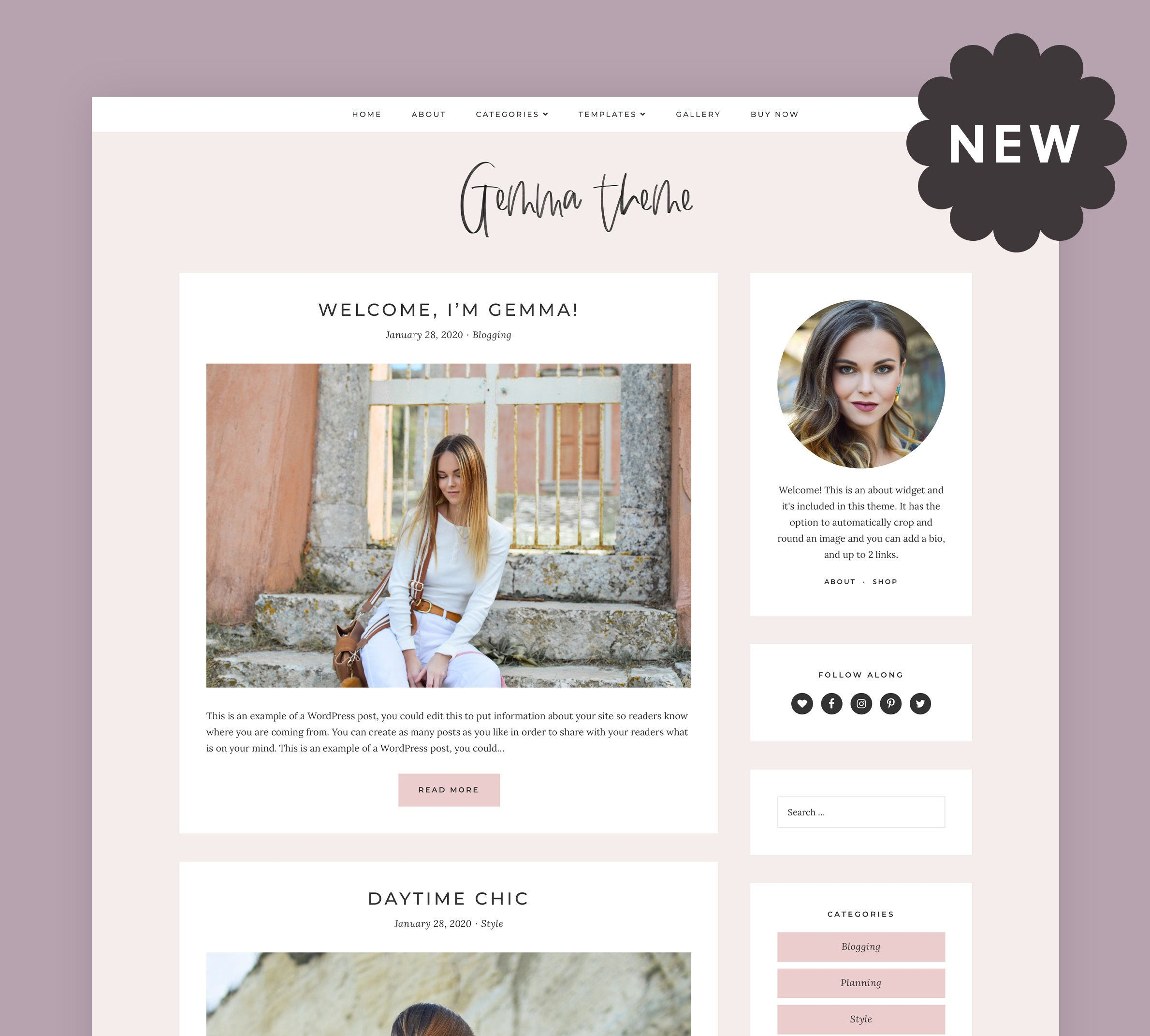 Gemma | Responsive WordPress theme for fashion / food / lifestyle blogs
