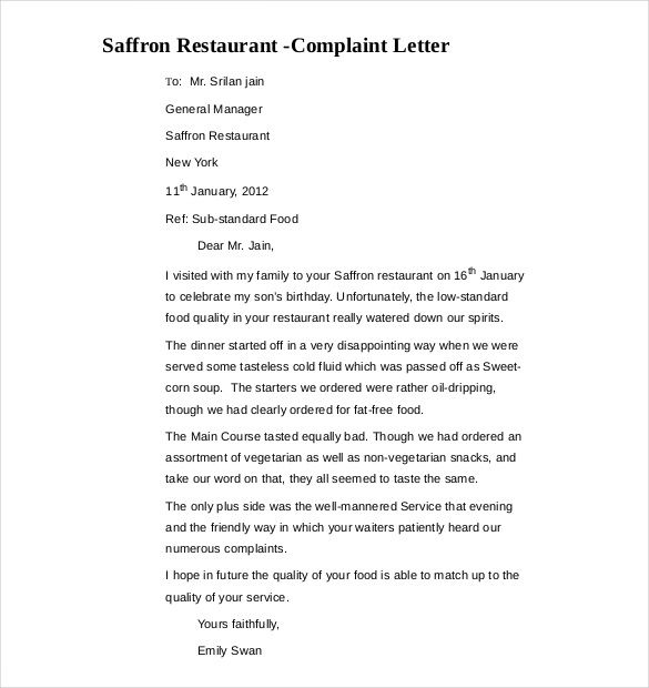 Complaint Letters Samples Complaint Letter To Station In Cover Letter Templates  News To Gow .