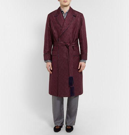 KINGSMAN TURNBULL & ASSER MOIRÉ DRESSING GOWN £1,145.84 / Approx ...