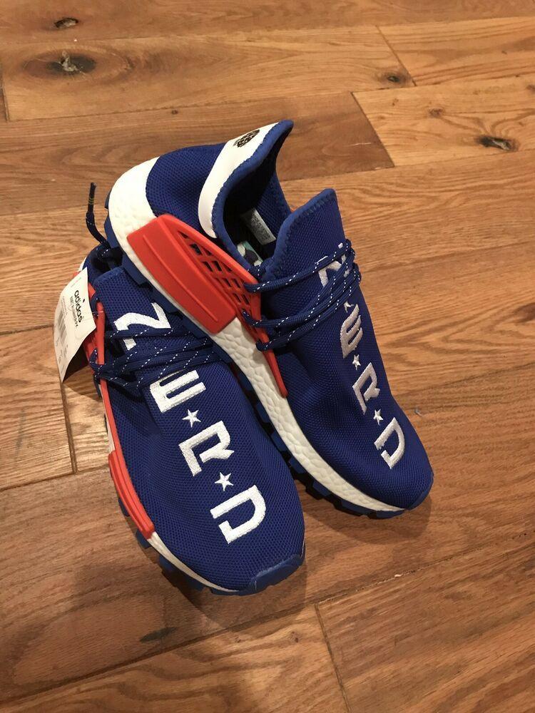 adidas NMD Hu Pharrell x BBC Blue Plaid