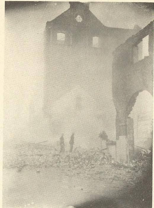 Bomb Damage Stanwell Street Factory in 1944.