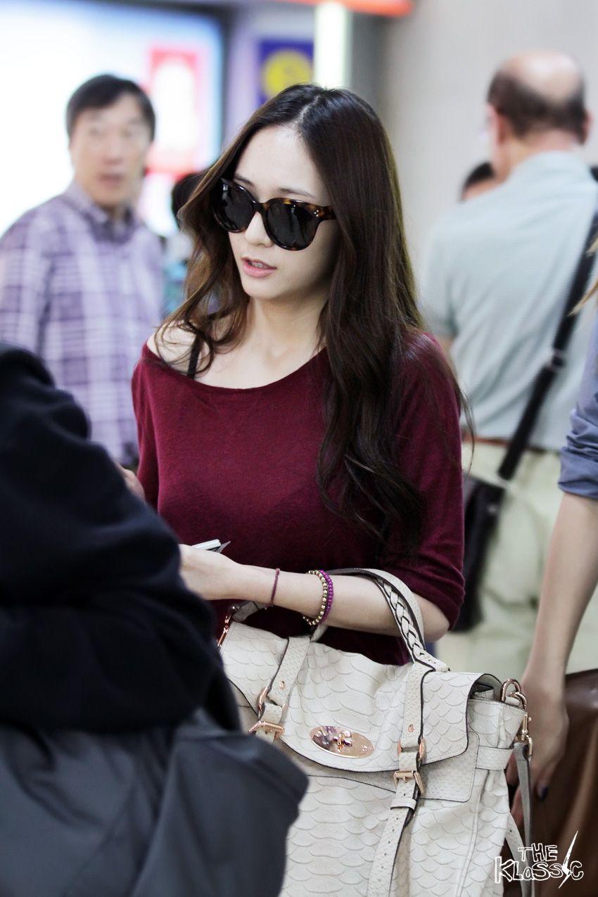 F X Krystal Korean Stars Airport Fashion Casual Style Pinterest Airport Fashion