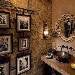 Wall Paper Tuscan Bathroom Design on farmhouse bathroom walls, composite bathroom walls, faux finish bathroom walls, victorian bathroom walls, rustic bathroom walls,