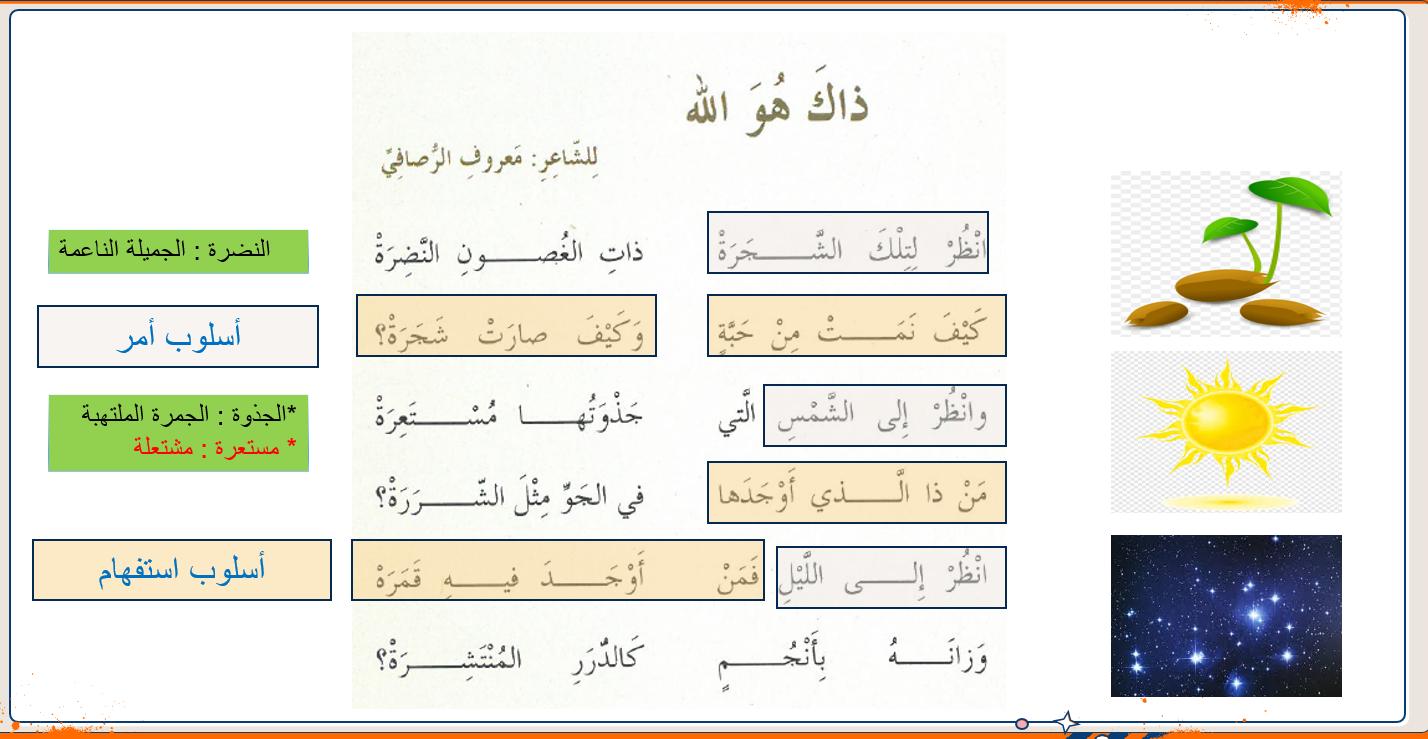 بوربوينت درس نشيد ذلك هو الله للصف الخامس مادة اللغة العربية Word Search Puzzle Words