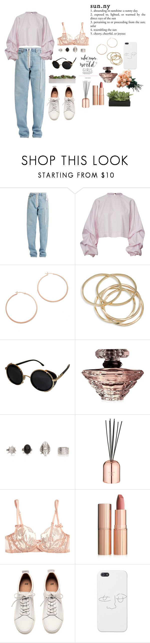 """Sin título #143"" by valusa ❤ liked on Polyvore featuring Off-White, Jennifer Zeuner, ABS by Allen Schwartz, Topshop, Lancôme, Tom Dixon, Agent Provocateur, Charlotte Tilbury, H&M and Lux-Art Silks"