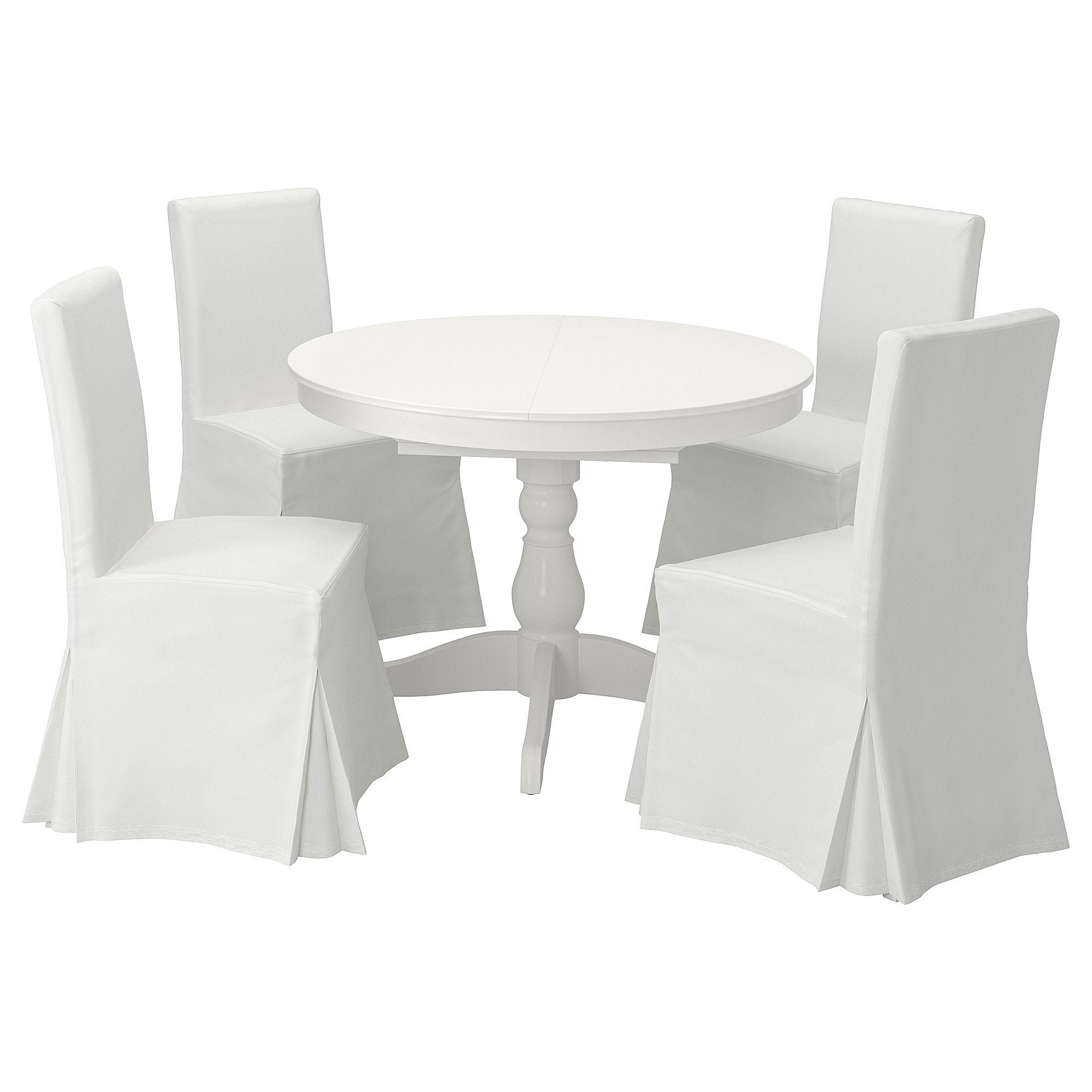 Ingatorp Henriksdal Tisch Und 4 Stuhle Weiss Blekinge