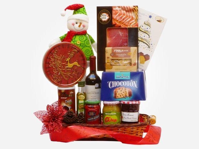 Cesta De Navidad Christmas Basket Christmas Gift Dulce Regalo