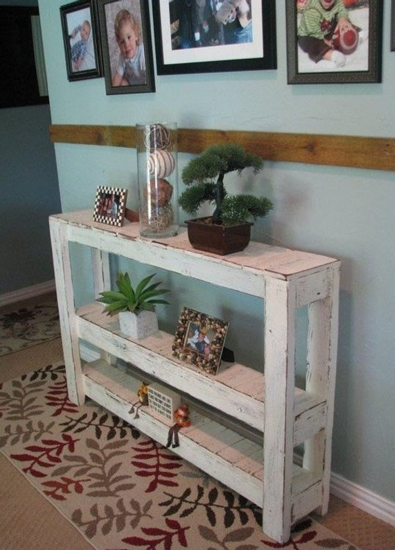 Large Three-Tiered Rustic Console Table in 2019 | Products | Rustic ...