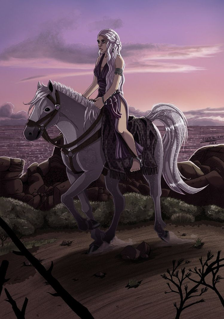 Daenerys on her silver by *ClaireLyxa on deviantART