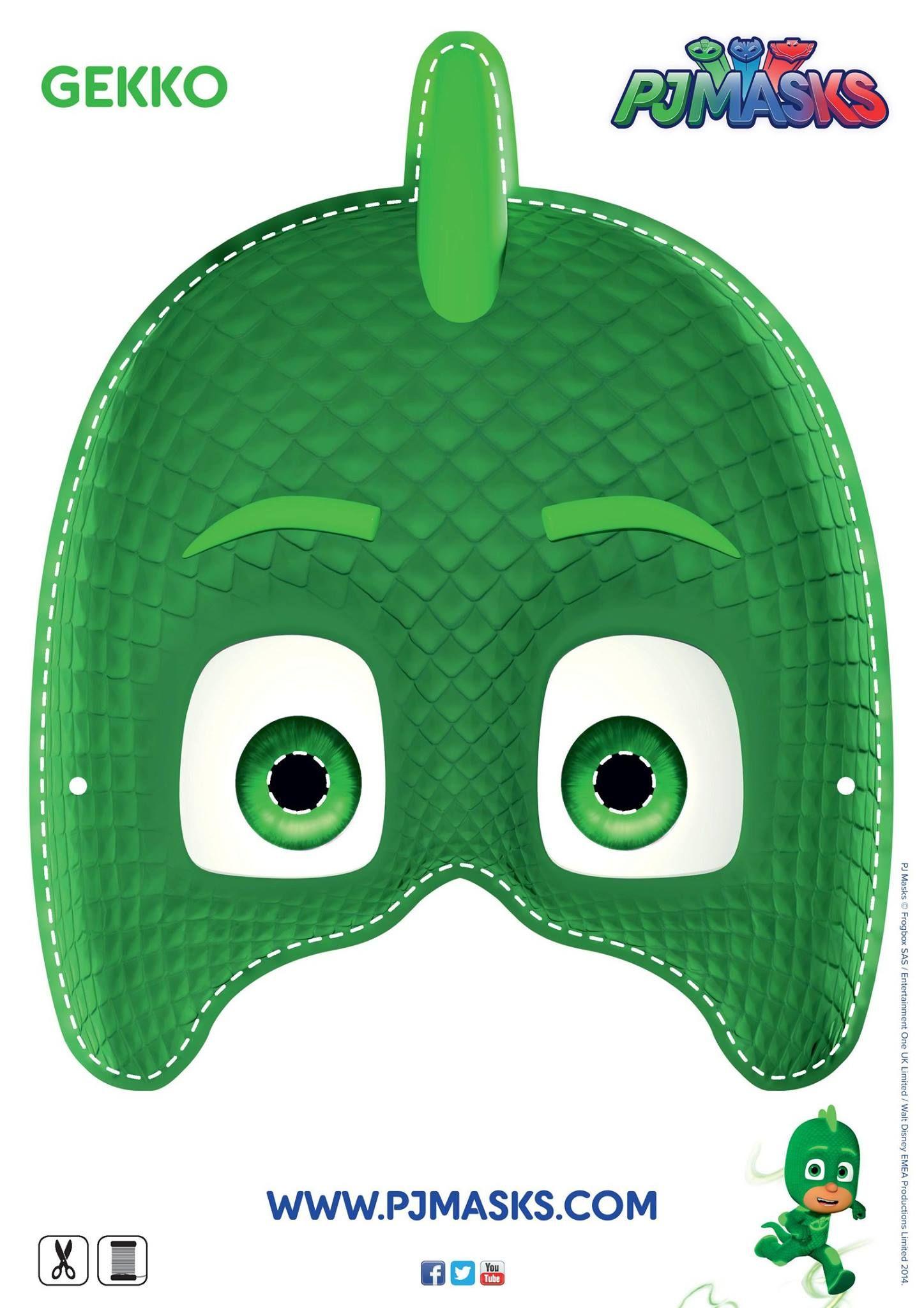 Make Your Own Gekko Mask gekko pjmasks disneyjunior