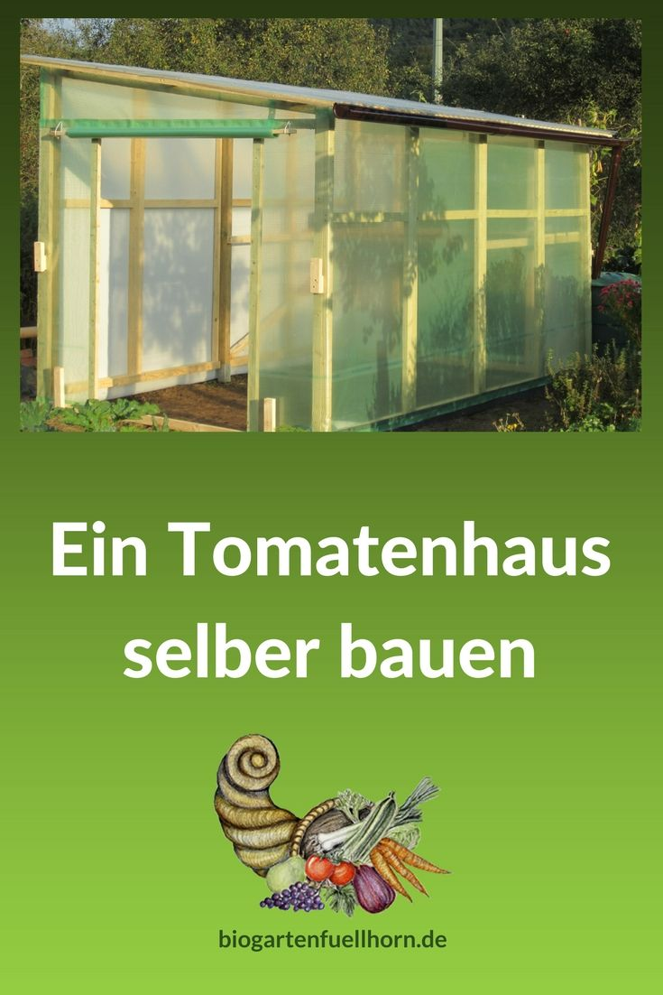 ein tomatenhaus selber bauen tomatenhaus selber bauen pinterest garten garten. Black Bedroom Furniture Sets. Home Design Ideas