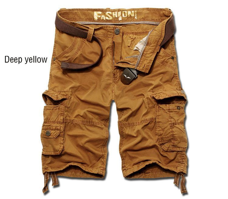 summer men shorts 2016 new multi-pocket casual