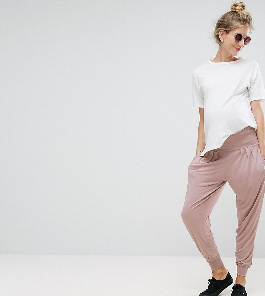 1a144f74112f7 ASOS Maternity Harem Pants In Jersey - Pink | Clothes, ropa, and ...